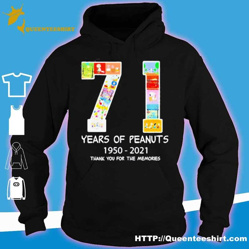 71 Years Of Peanuts 1950 2021 Thank You For The Memories Shirt hoodie