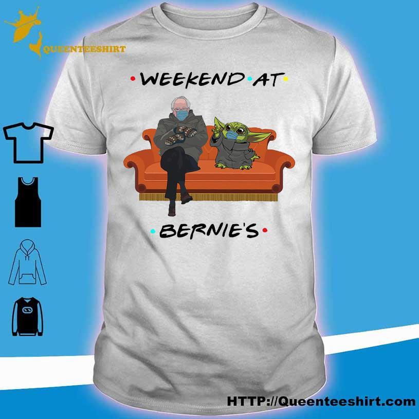 Bernie Sanders and Star wars Baby Yoda Weekend at Bernie's shirt