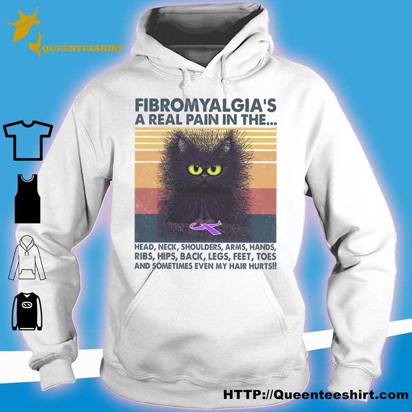 Cat Fibromyalgia a real pain in the head neck shoulders arms vintage s hoodie