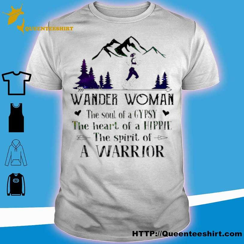 Girl Jogging Wander Woman The Soul Of A Gypsy The Heart Of A Hippie The Spirit Of A Warrior Shirt