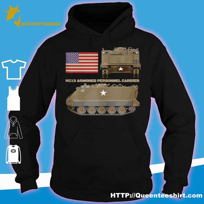 M113 Armored Personnel Carrier Patriotic Army American Flag Shirt hoodie