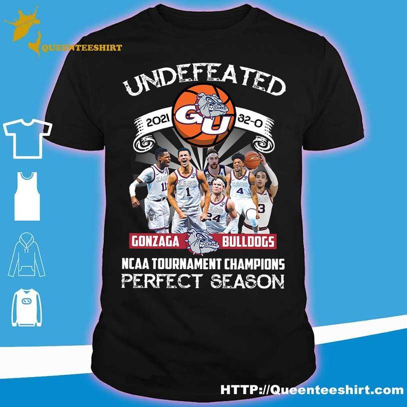Official Undefeated 2021 Gonzaga Bulldogs NCAA Tournament champions perfect season shirt