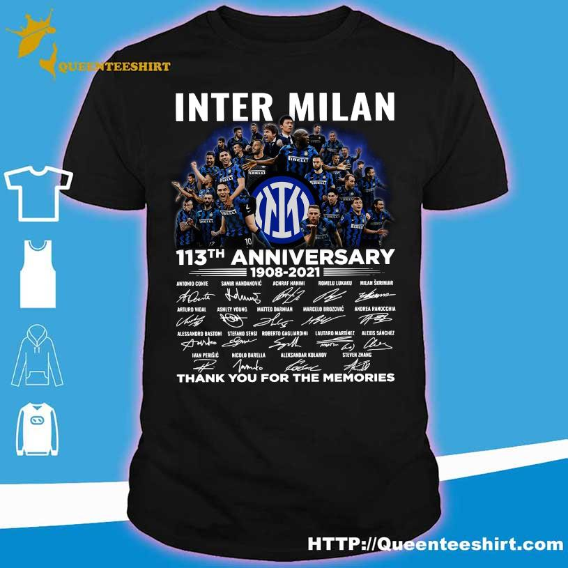 Inter Milan 113TH Anniversary 1908 2021 thank You for the memories signatures shirt