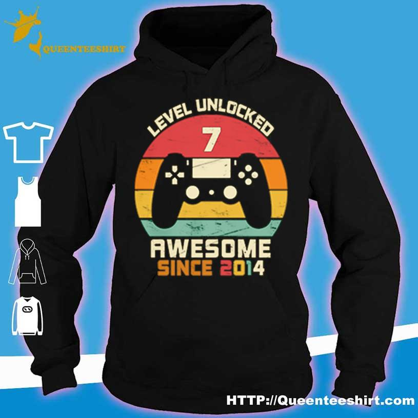 Level Unlocked 7 Awesome Since 2014 Vintage Retro Shirt hoodie
