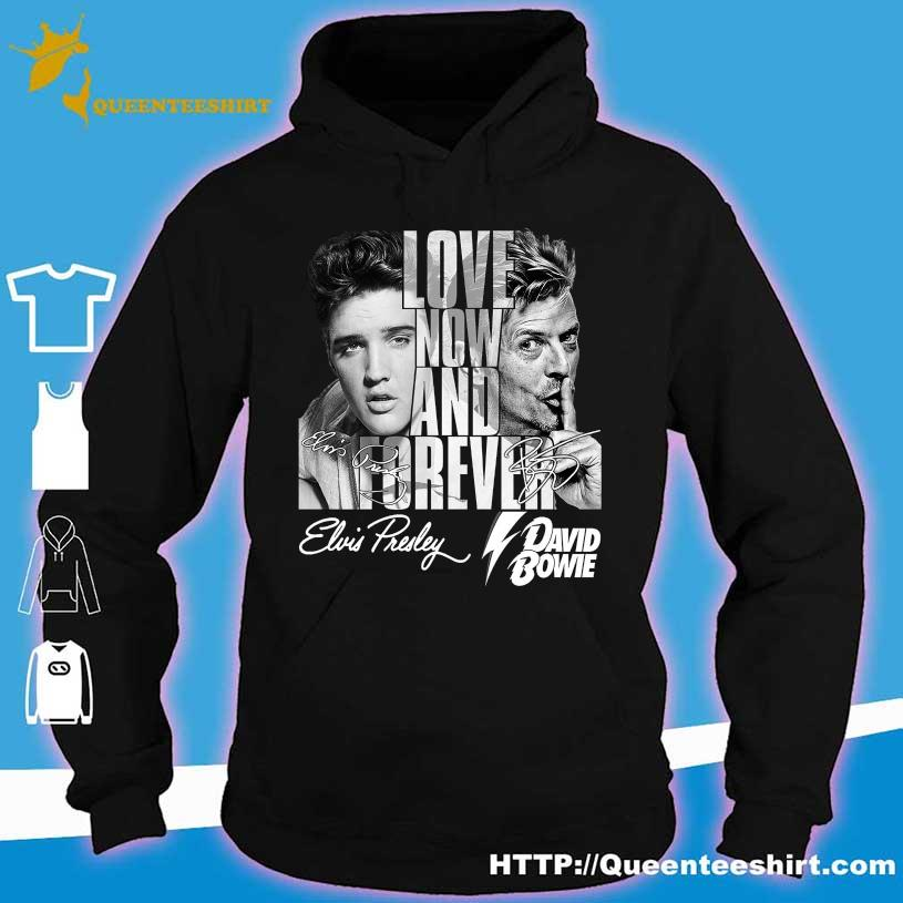 Love now and forever David Bowie Elvis Presley signatures s hoodie