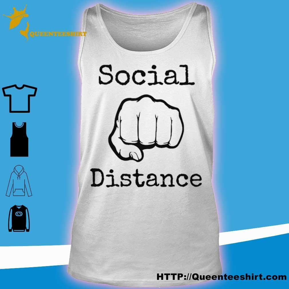 2020 Social Distance No Touching Fist Bumps Shirt tank top