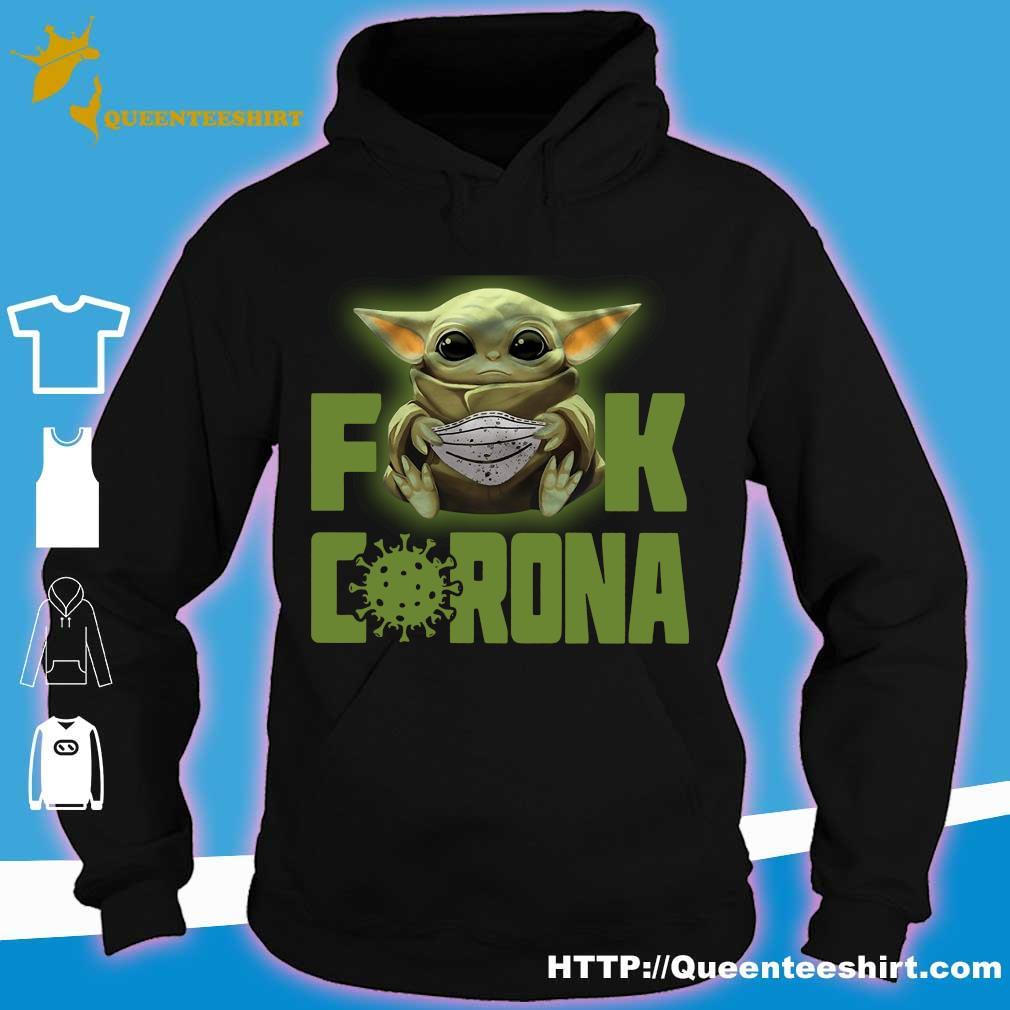 Baby Yoda fuck corona s hoodie