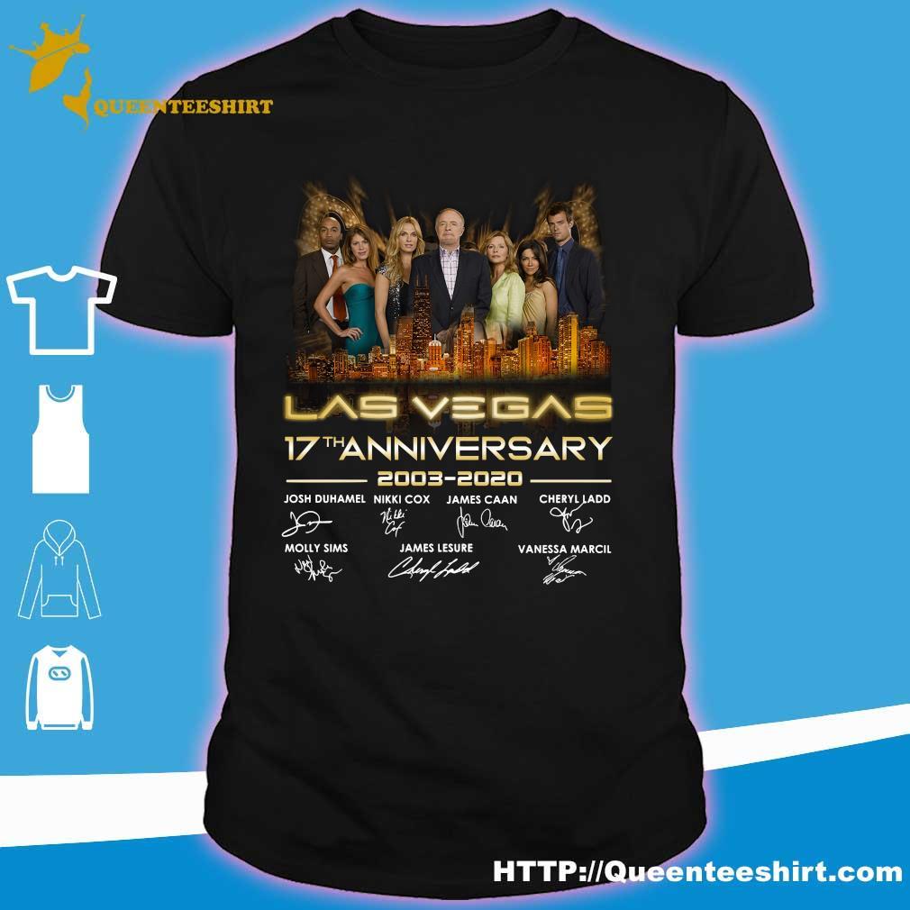 Las vegas 17th anniversary 2003 2020 signatures shirt