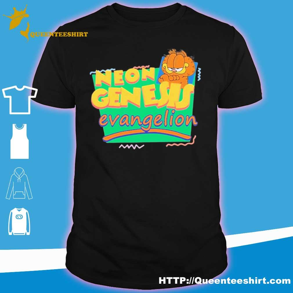 Neon Genesis Evangelion Garfield Shirt Hoodie Sweater Long Sleeve And Tank Top