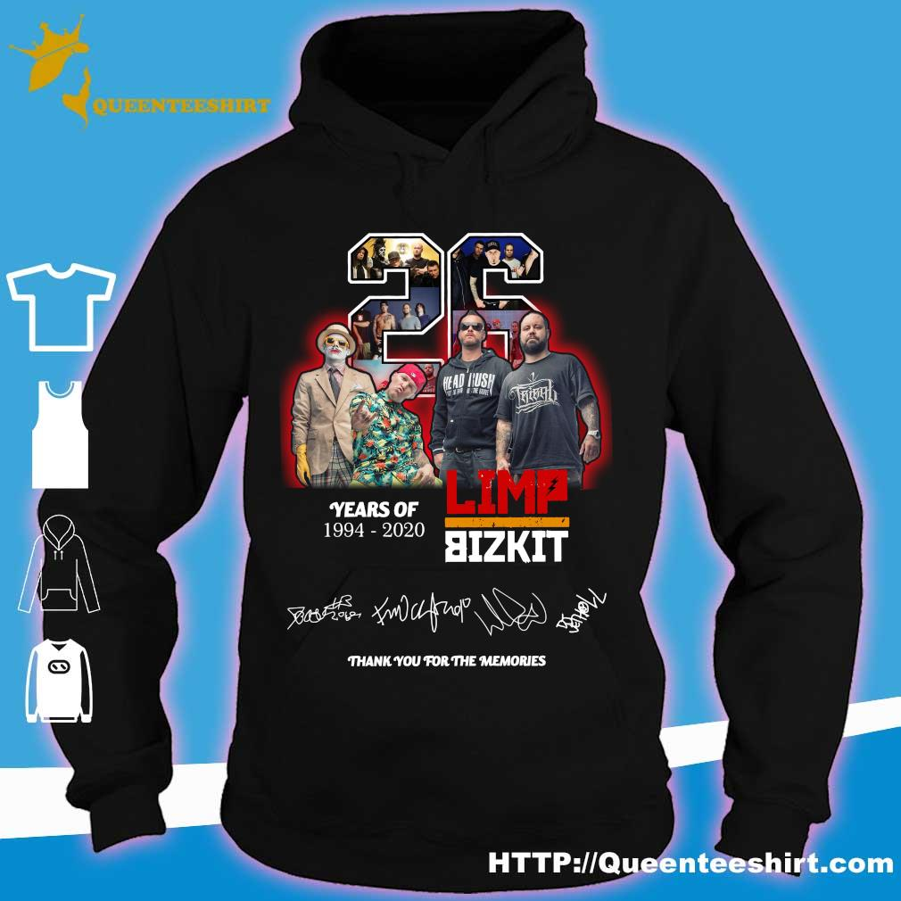 Official 26 years of 1994 2020 Limp Bizkit thank you for the memories s hoodie