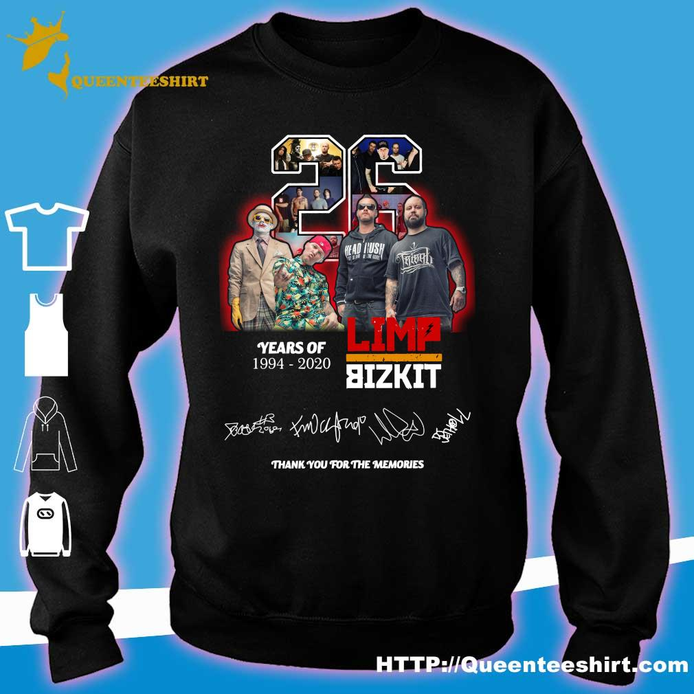 Official 26 years of 1994 2020 Limp Bizkit thank you for the memories s sweater