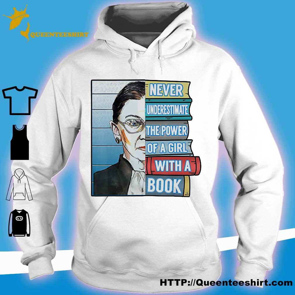 Official Never underestimate the power of a girl with a book s hoodie