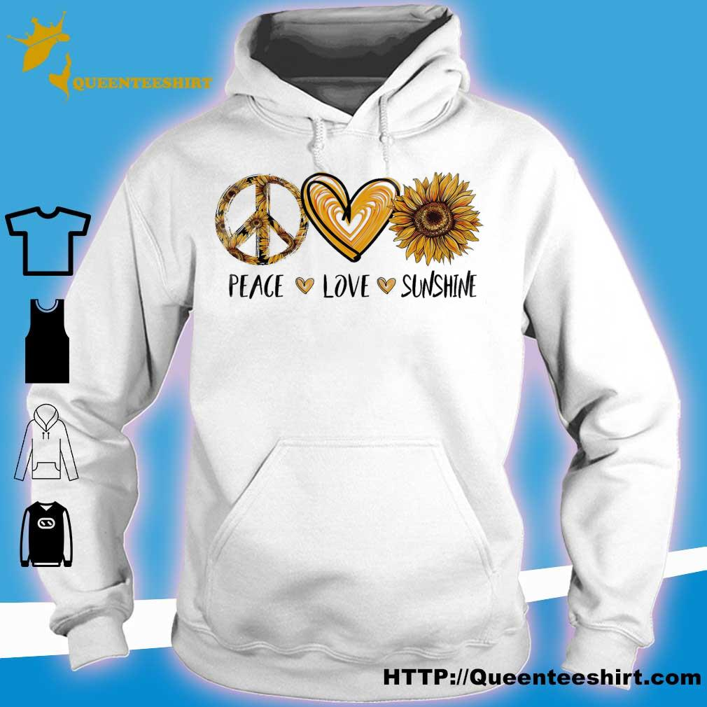 Official peace love sunshine s hoodie