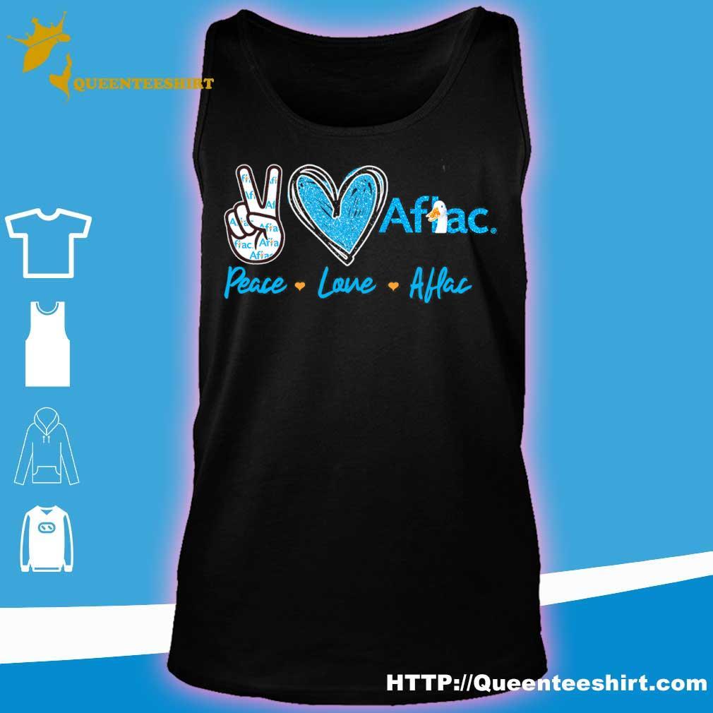 Peace Love Aflac Diamond Shirt tank top