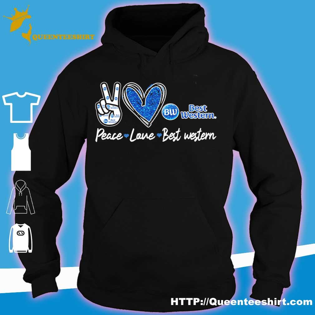 Peace Love Best Western Diamond Shirt hoodie