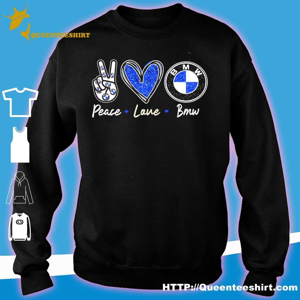 Peace Love Bmw Diamond Shirt sweater