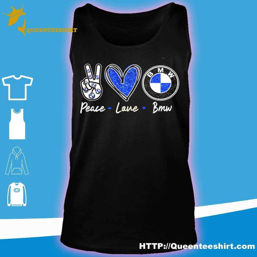 Peace Love Bmw Diamond Shirt tank top