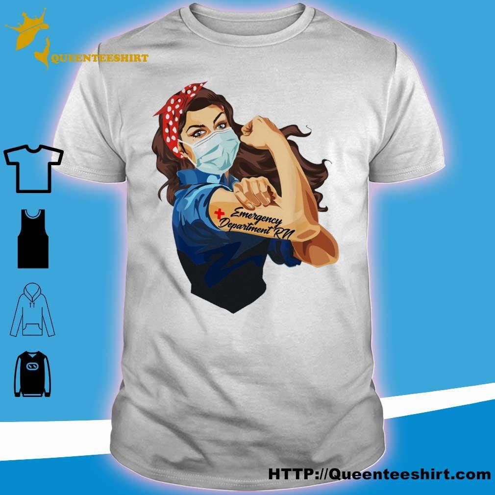 Strong woman emergency department rn shirt