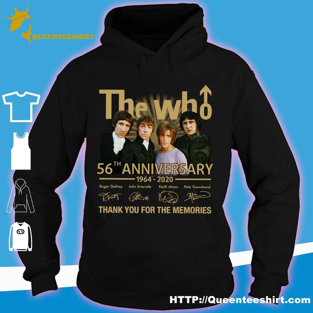 The who 56th anniversary 1964 2020 thank you for the memories s hoodie