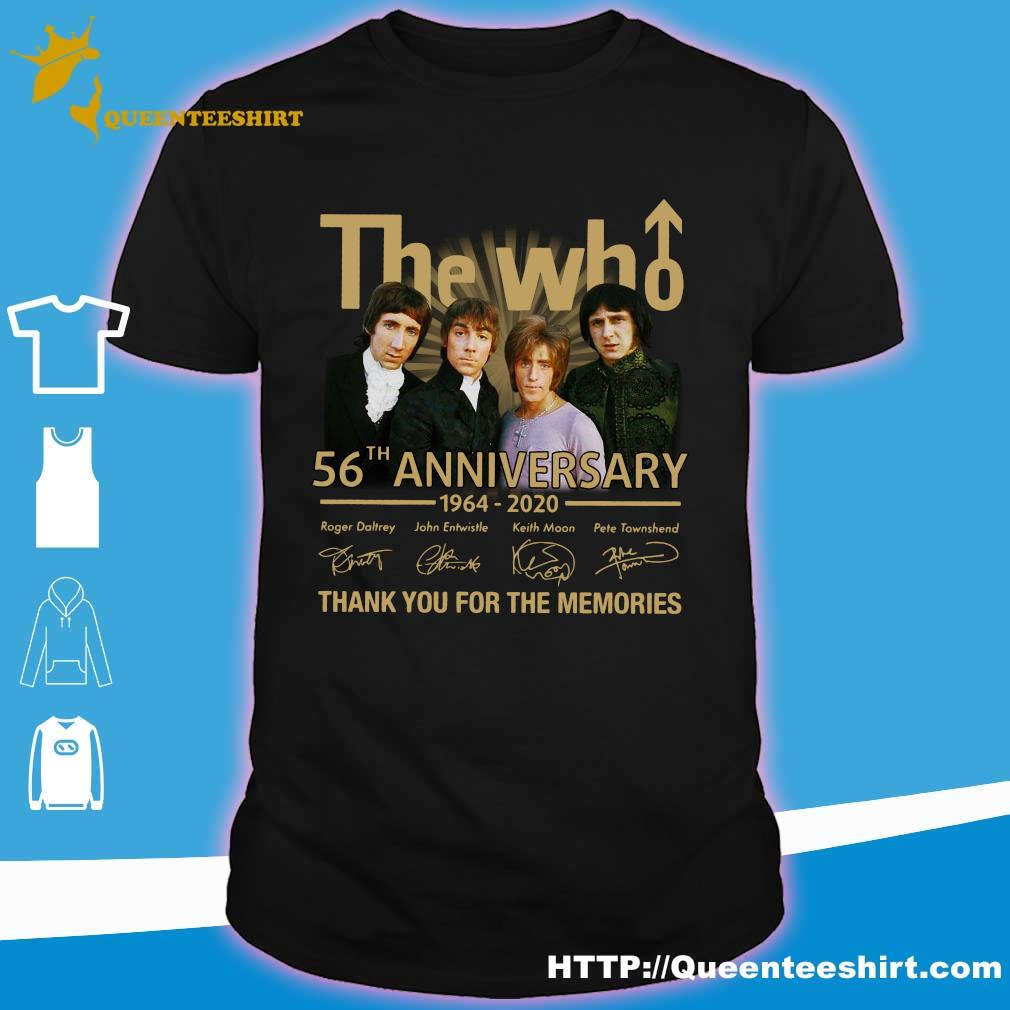 The who 56th anniversary 1964 2020 thank you for the memories shirt