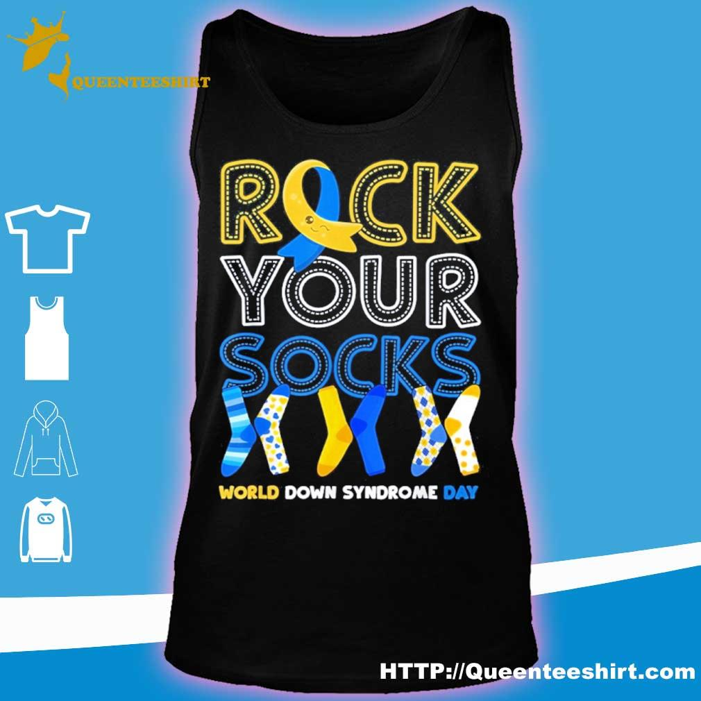 World Down Syndrome Day T Shirt Rock Your Socks Awareness Shirt tank top