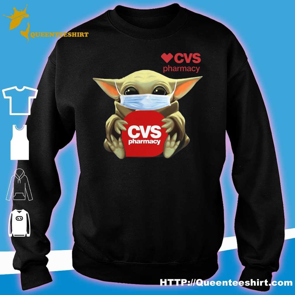 Baby Yoda face mask hug CVS Pharmacy s sweater