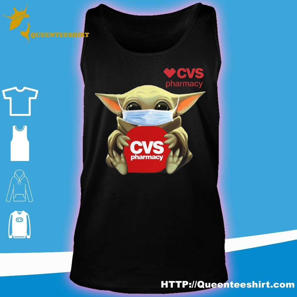 Baby Yoda face mask hug CVS Pharmacy s tank top