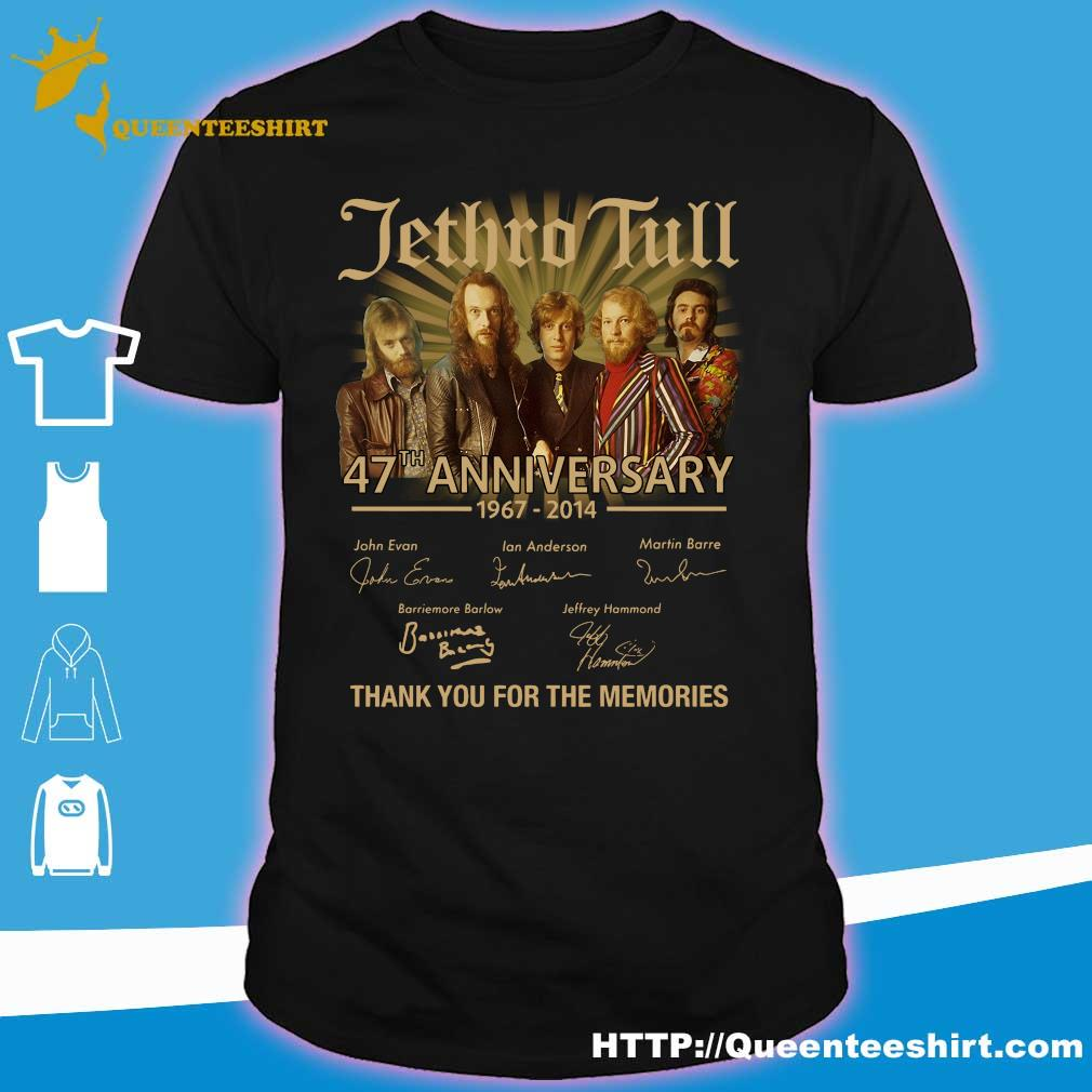 Jethro Tull 47th anniversary 1967 2014 thank you for the memories shirt