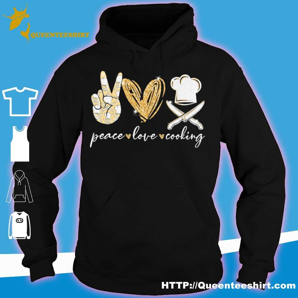 Peace Love Cooking diamond s hoodie