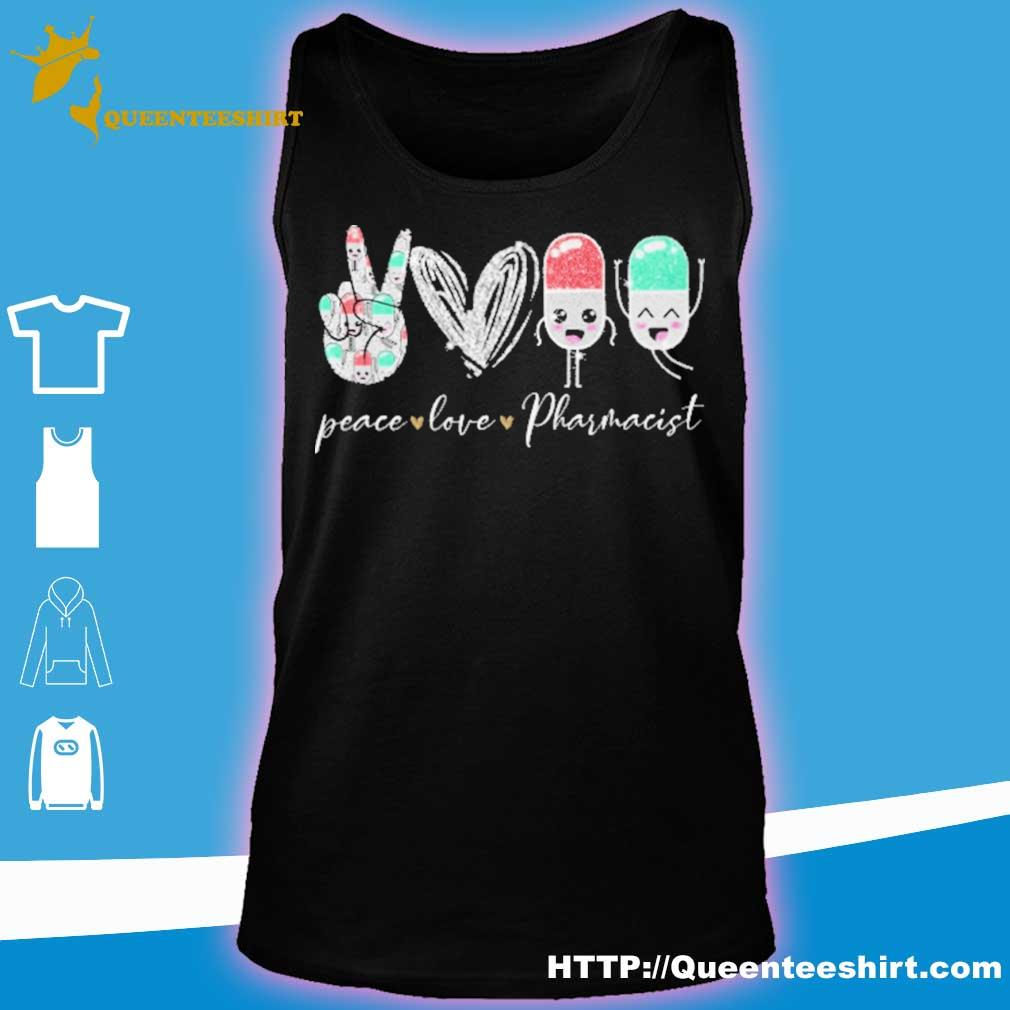 Peace love Pharmacist diamond s tank top