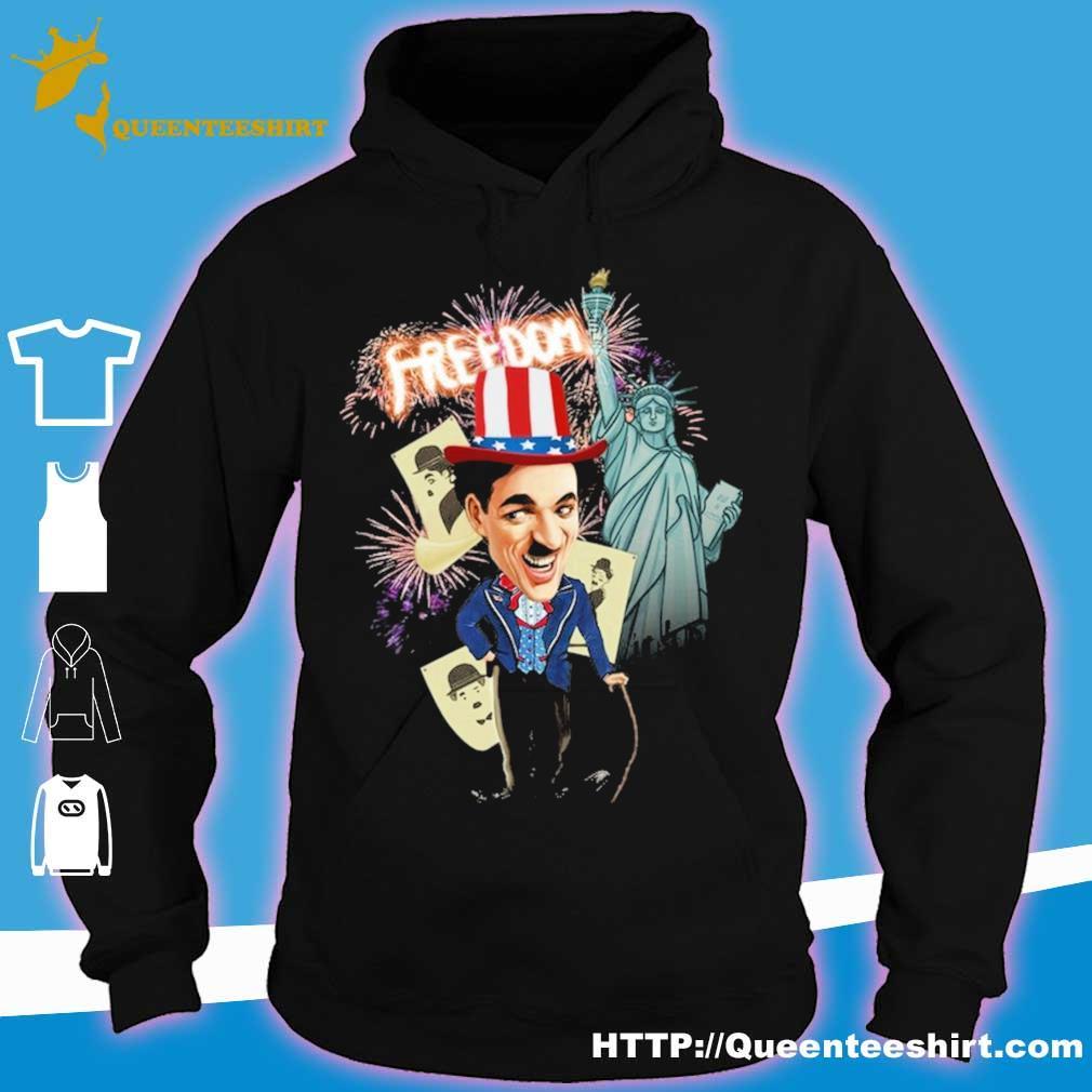 Charlie Chaplin freedom Flag day american s hoodie