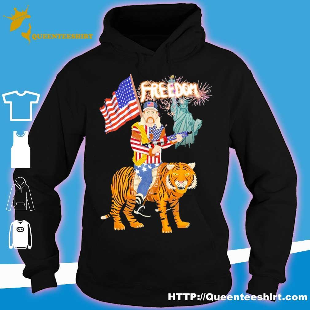 Joe Exotic tiger king freedom american Flag Day s hoodie