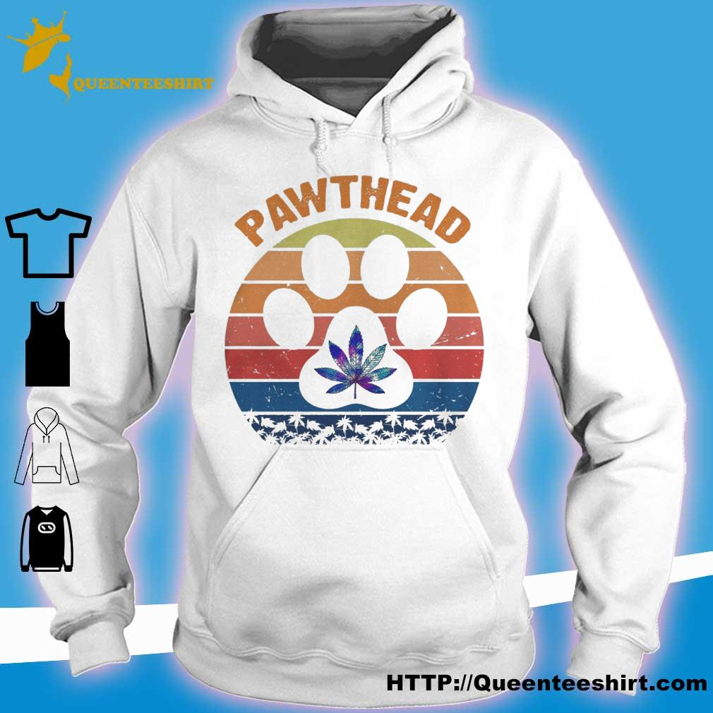 Marijuana Pawthead dog vintage s hoodie
