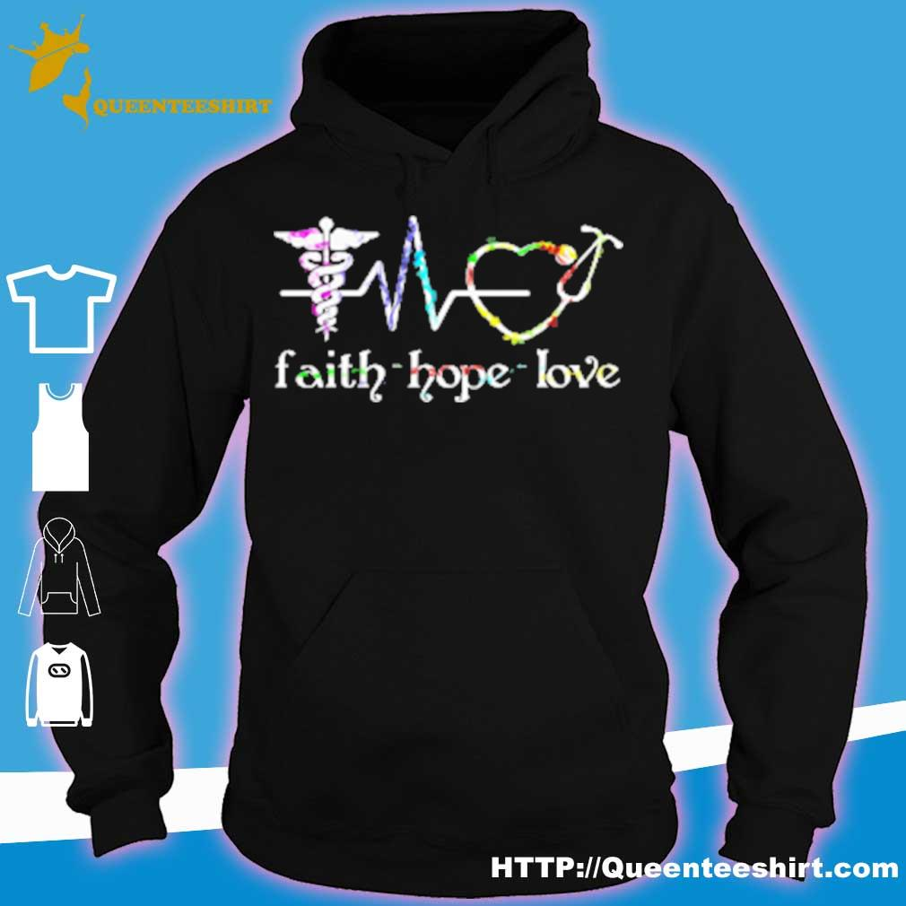 Womens Long Fleece Faith Hope Love Womens Long Sleeve Outerwear