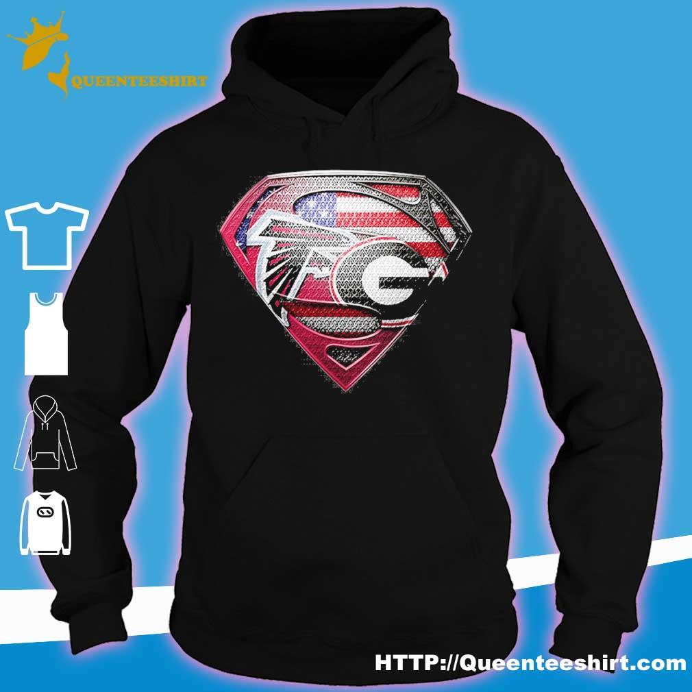 Superman Atlanta Falcons vs Georgia Bulldogs Heart s hoodie