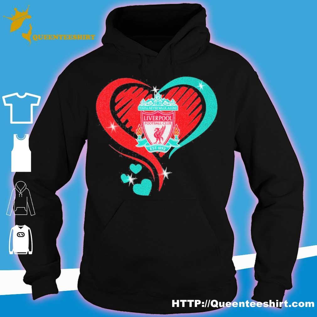 Liverpool Heart diamond s hoodie