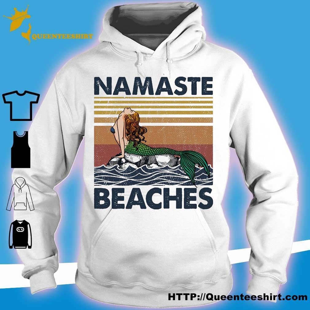 Mermaid namaste beaches vintage s hoodie