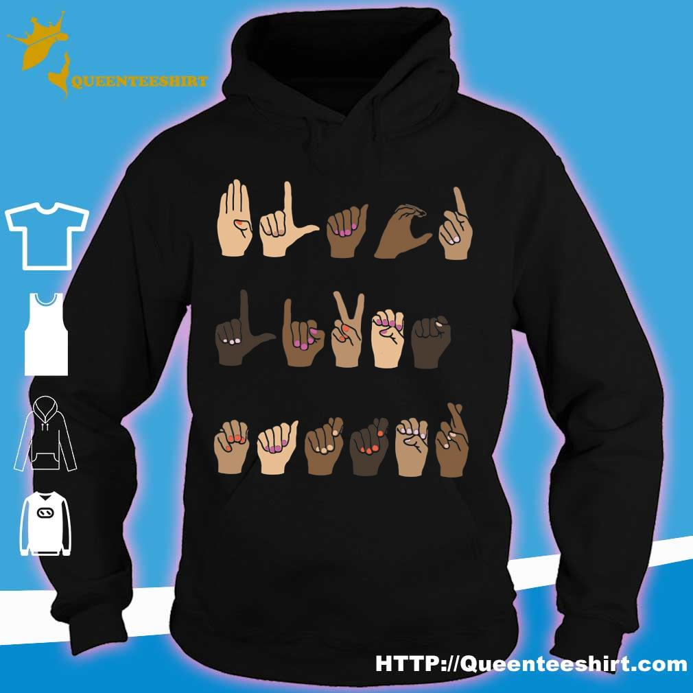 Sign language Black Lives Matter s hoodie