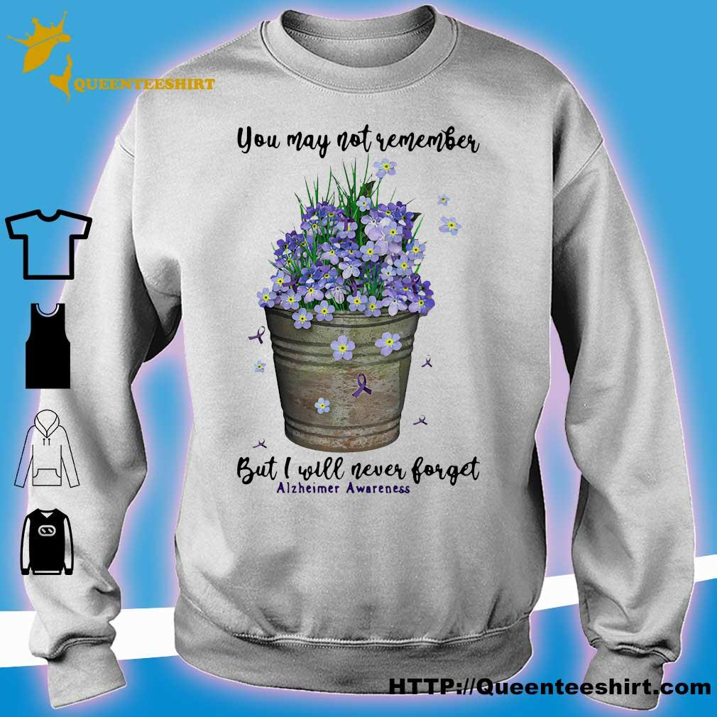 You may not remember but I will never forget alzheimer awareness s sweater