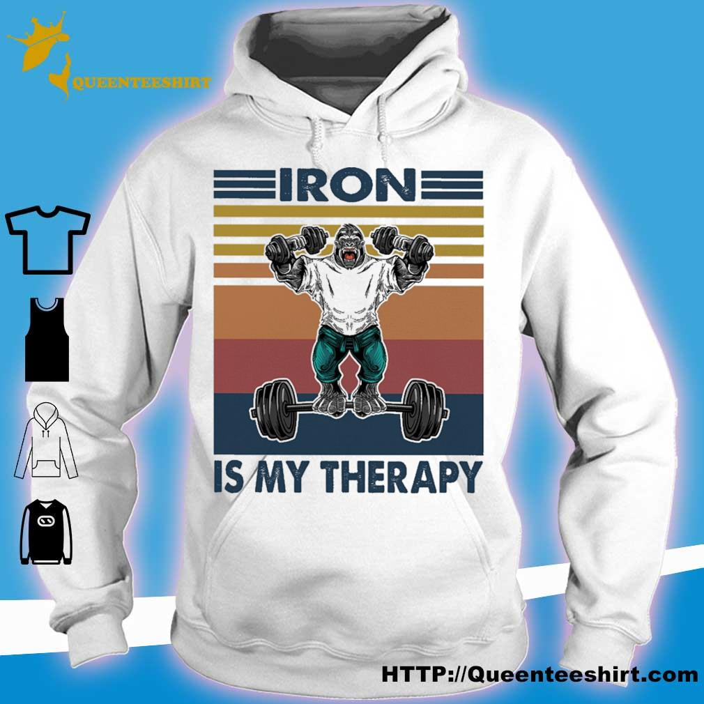 Bigfoot Iron is my therapy vintage s hoodie