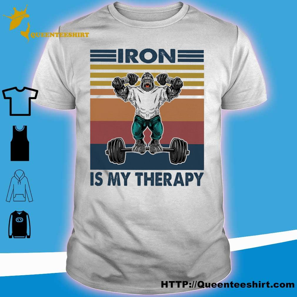 Bigfoot Iron is my therapy vintage shirt