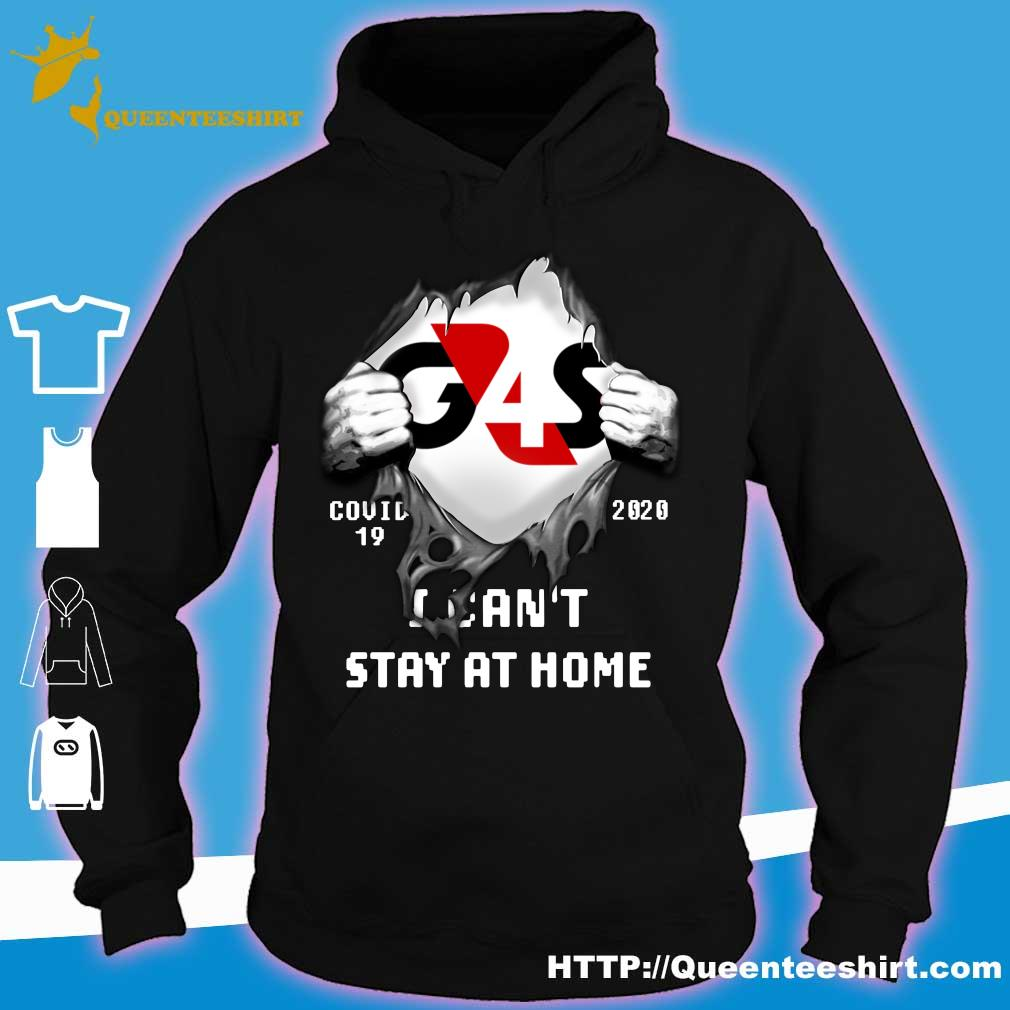 Blood inside me G4S Company covid-19 2020 I can't stay at home s hoodie