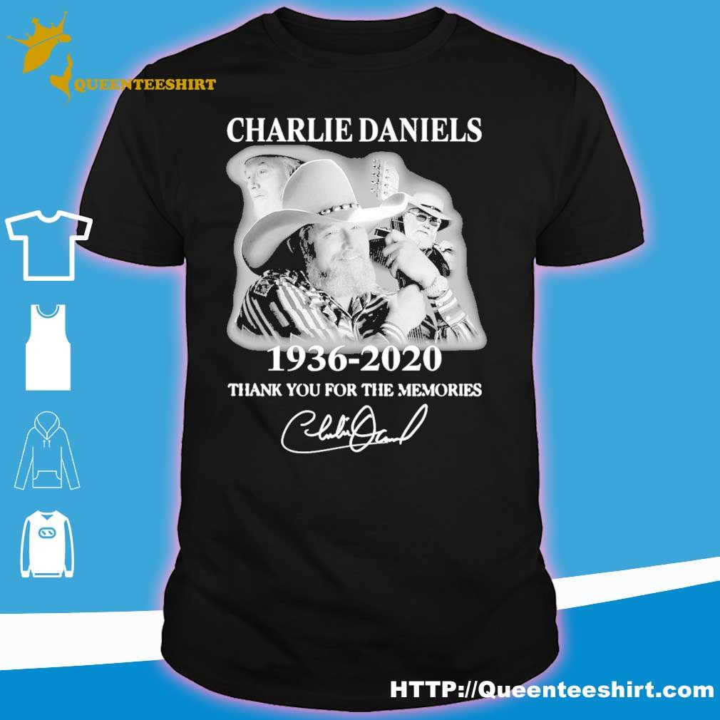 Charlie Daniels 1936 2020 thank you for the memories signature shirt