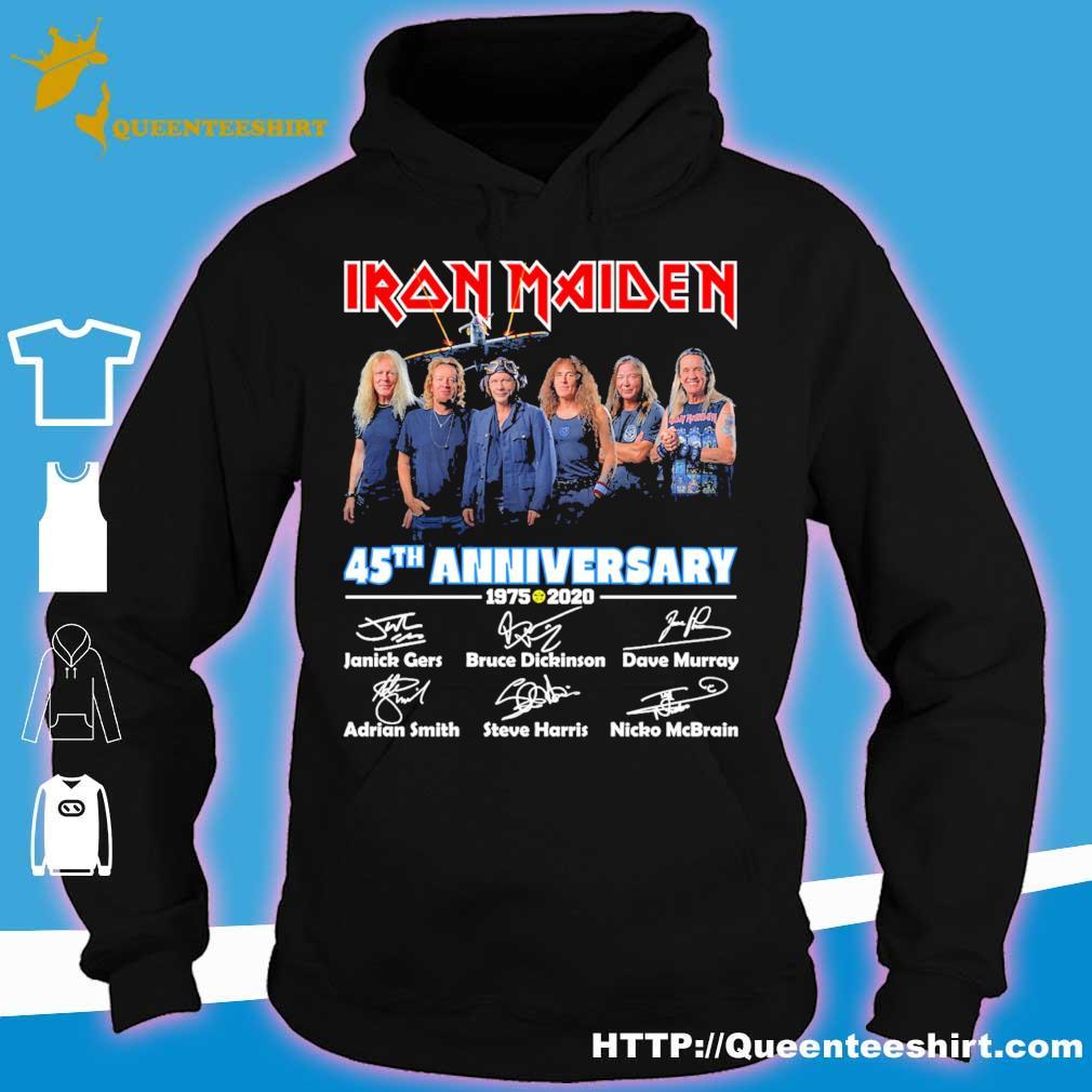 Iron Maiden 45th anniversary 1975 2020 Character signature s hoodie