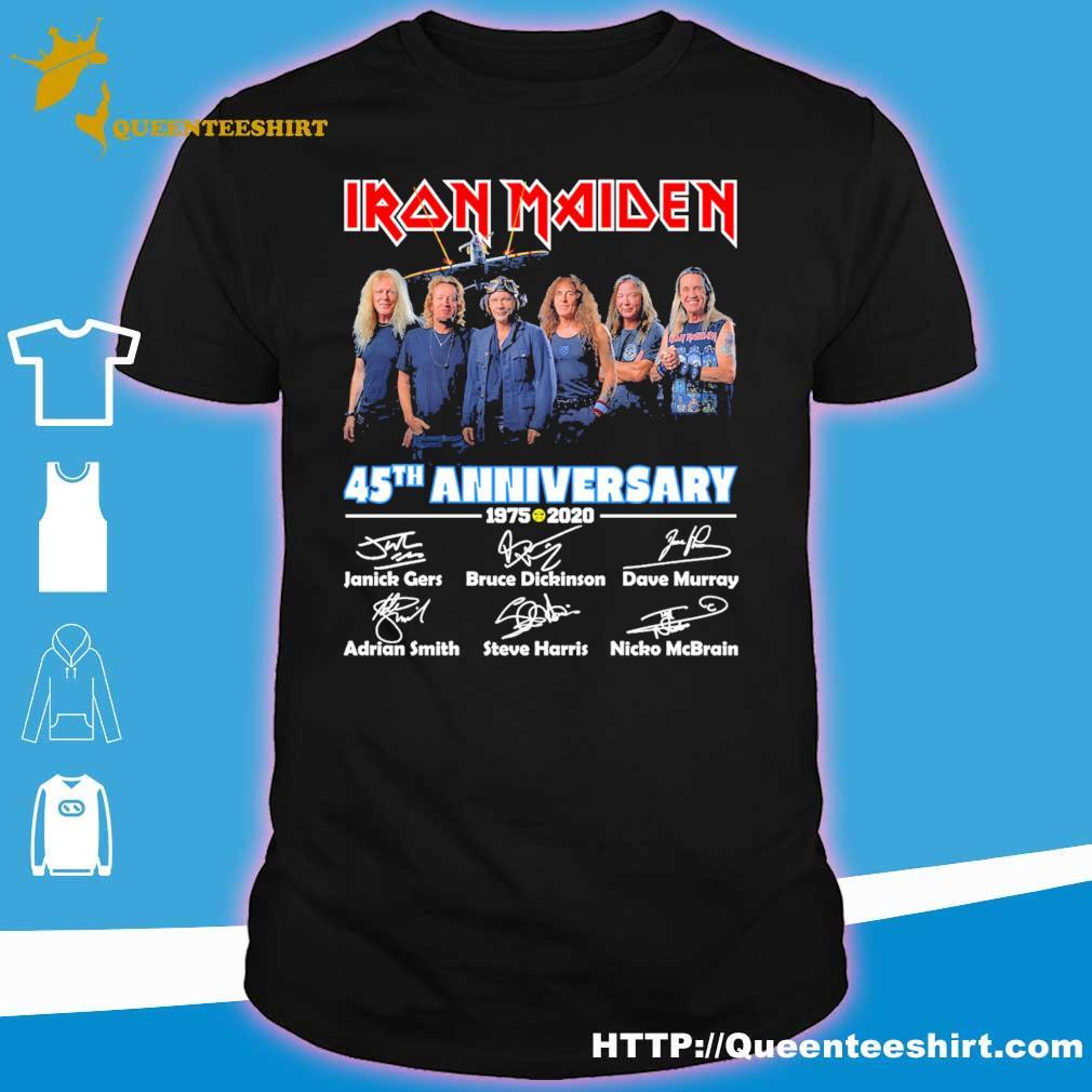 Iron Maiden 45th anniversary 1975 2020 Character signature shirt
