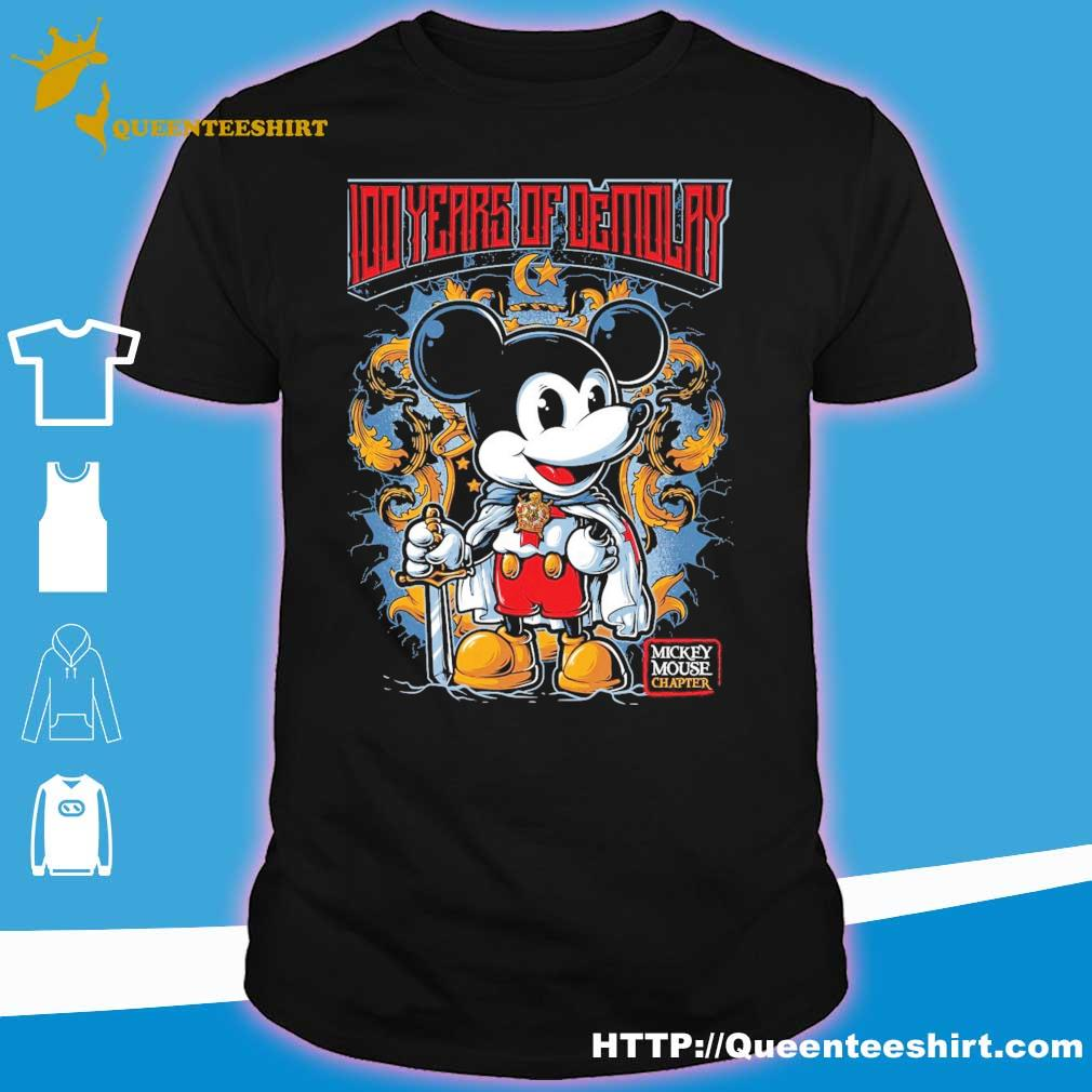 Mickey mouse 100 years of Demolay shirt