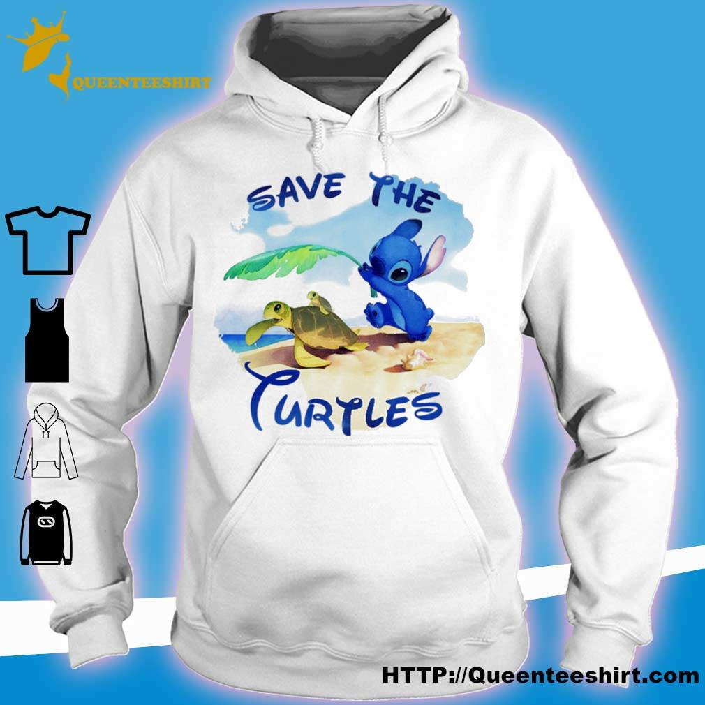 Stitch save the turtles s hoodie