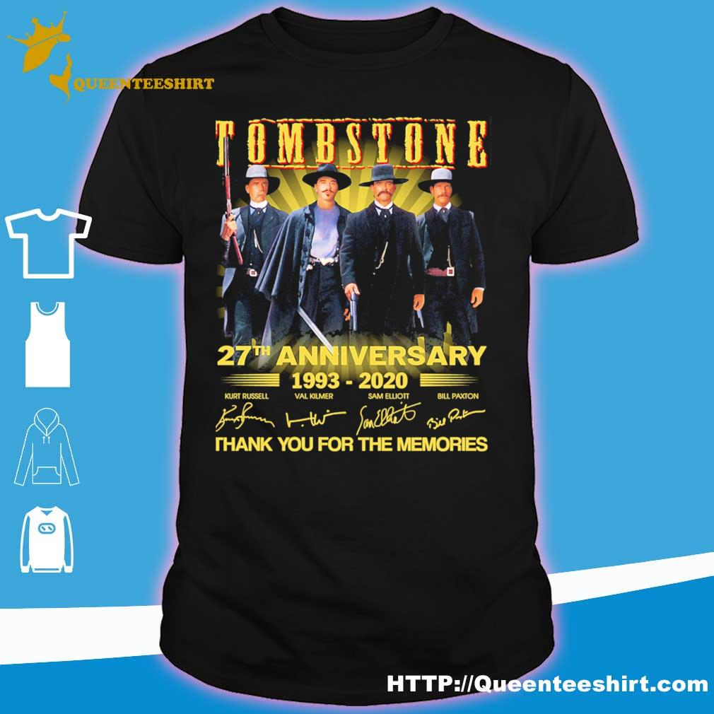 Tombstone 27th anniversary 1993 2020 thank you for the memories signatures shirt