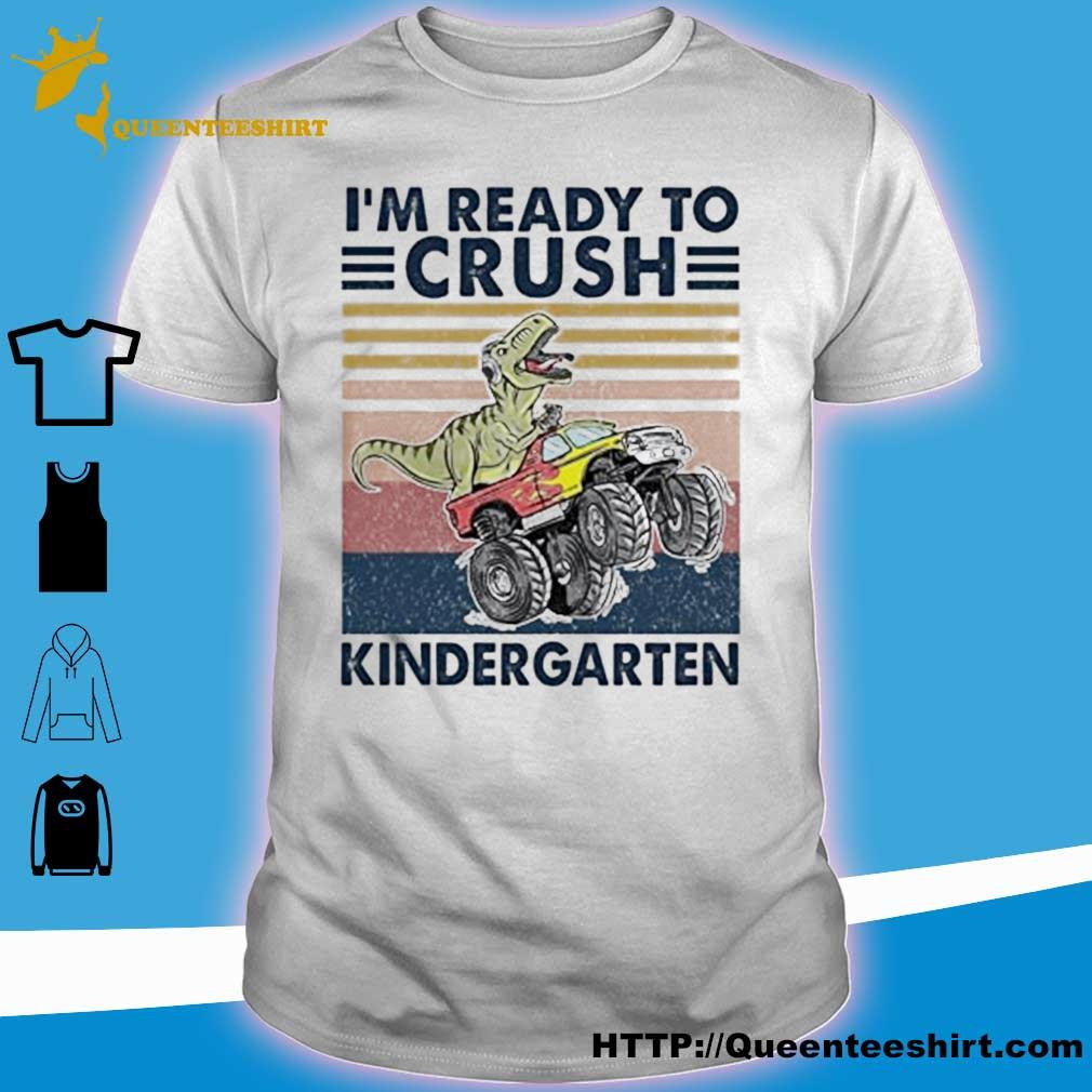 Tyrannosaurus I'm ready to kindergarten vintage shirt