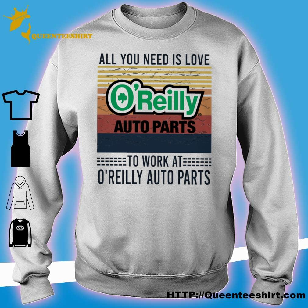 All you need is love O'reilly auto parts to work at O'reilly auto parts vintage s sweater